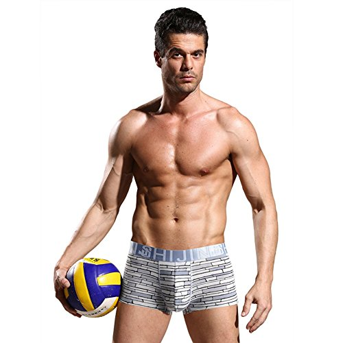 JINSHI Ultra Soft Sexy Mens Underwear Stretch Boxer Brief 8 Pack Size Large