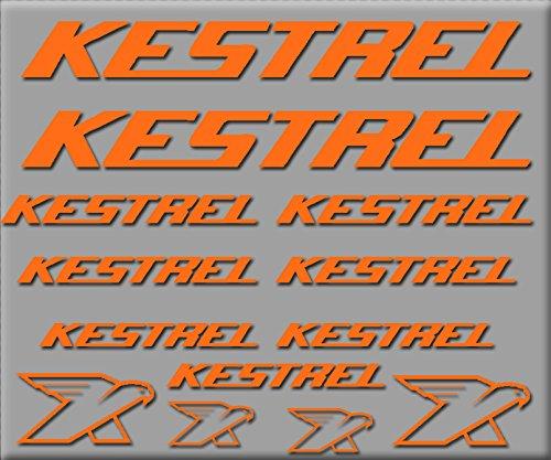 Ecoshirt 48-WXD9-XN7G Aufkleber Kestrel R226 Vinyl Adesivi Decal Aufkleber públicpúblicŸŸ MTB Stickers Bike, orange (Bike Kestrel)