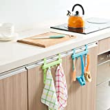 #6: HOME CUBE® 2 Pc Door Back Hook Plastic Kitchen Cabinet Back Style Organizer Hanging Cupboard Door Trash Garbage Bags Storage - Random color