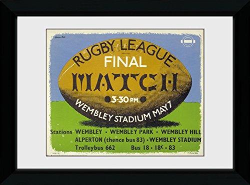 GB Eye Ltd Transport for London, Rugby, encadrée, 50 x 70 cm, Bois, différents, 55 x 75 x 2.9 cm