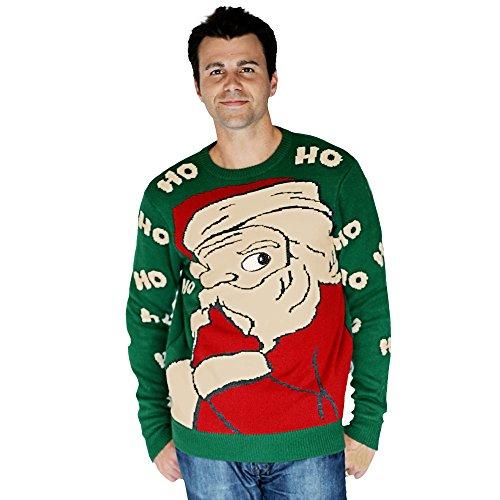 Morphsuits-Costume da Babbo Natale per adulti, modello Ugly Peeking Christmas Knitted Jumper Felpa per bebè