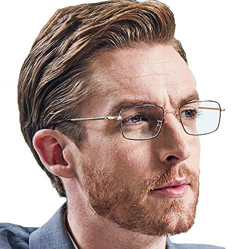 Jenify Lesen Gläser Männer Computer-Leser, Blue Light Blocking Gläser wählen Sie Ihre Vergrößerung,Gold,2.0X