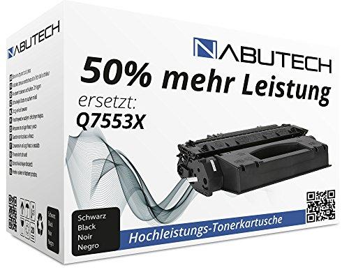 Preisvergleich Produktbild FABRIKNEUER Nabutech Toner mit 50% mehr Leistung für 53X HP Laserjet P2000 P2011 P2011n P2013 P2013n P2014n P2015d M2700 Series M2727NFS MFP,  10000 Seiten Black