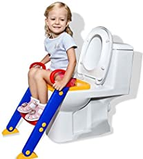 GosFrid Froggie Child Toilet Portable Adjustable Ladder Baby Potty Training Seat (Color May Very)