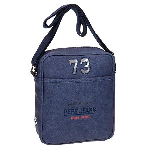Pepe Jeans Jack Borsa Messenger, 25 cm, 3.25 liters, Grigio (Gris) Azzurro