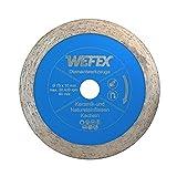 WEFEX Diamant-Trennscheibe Rondo-Fliese 75 mm x 10 mm passend für Bosch GWS 10,8-76 V-EC Kacheln Keramik Feinsteinzeug Fliesen