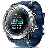 DUMXY DUMXY Bluetooth Smart Watch, Herren wasserdichte Zeblaze Vibe 3 PROSport-Smartwatch, Pulsmesser-Näherungssensor, 1.3-Zoll-Touchscreen Für Android Und IOS