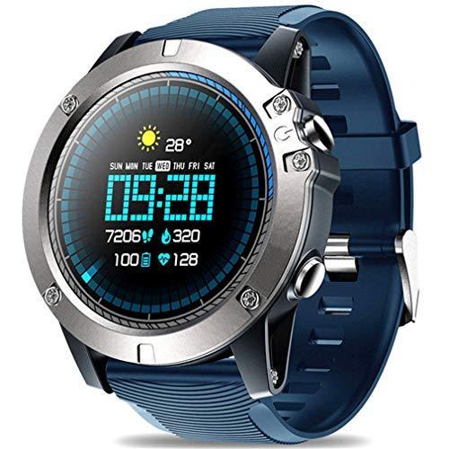 JIEGEGE Bluetooth Smart Watch, Herren wasserdichte Zeblaze Vibe 3 PROSport-Smartwatch, Pulsmesser-Näherungssensor, 1.3-Zoll-Touchscreen Für Android Und IOS - Basketball Sensor Der Smart