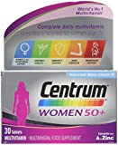Centrum 50 Plus Multivitamin Tablets for Women, Pack of 30 by Centrum