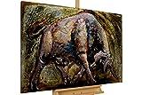 Extravagantes KunstLoft® Metallbild 3D 'El Toro' 120x80x8cm   Design Wanddeko XXL handgefertigt   Unikat Luxus Wandskulptur   Stier Bulle Stierkampf Tier   Wandbild Relief modern