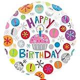Folienballon Helium Geburtstag nicht mit Ballongas gefüllt, leer Cup Cake 45cm