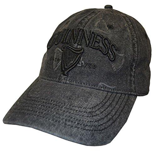 Black Guinness Distressed Harp Designed Baseball Cap