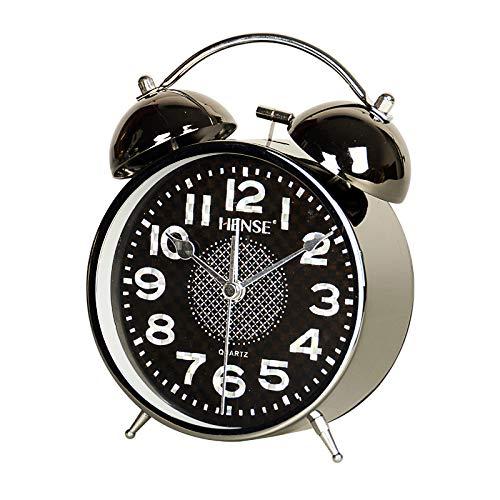 LTOOD Timbre mecánico Reloj Despertador Estudiante Mesa de Noche ...