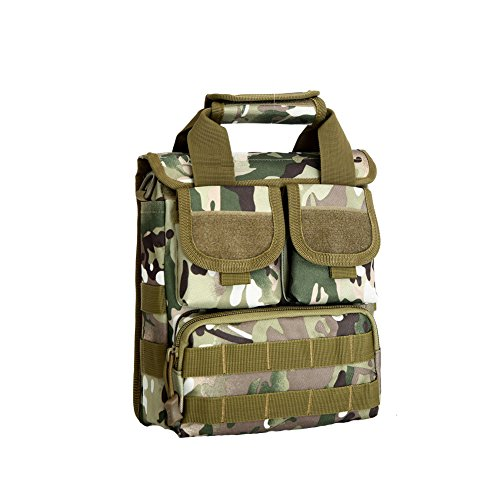 Bluelans Herren Messenger Bag Tactical Crossbody Schultertasche Camping Wandern Gym Gear Tasche, CP Camouflage (Cabrio Cross-body-tasche)