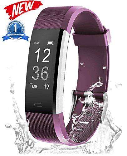 Slykeers Fitness Armband Uhr mit Aktivitätstracker,Wasserdicht IP67 Fitness Tracker mit Pulsmesser Pulsuhren Bluetooth Smart ArmbandUhr Schrittzähler mit Schlafmonitor Kalorienzähler Vibrationsalarm Anruf SMS Whatsapp Beachten kompatibel mit iPhone Android Handy