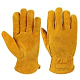 Best Hand Trades Gifts For Fathers - OZERO Work gloves,Leather Gloves with Breathable Lining Review