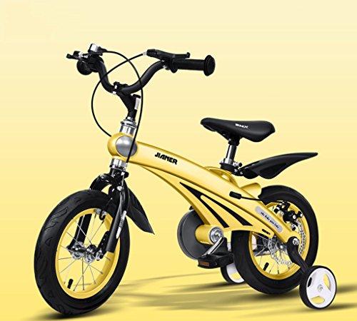 Kinderrad, 3 Jahre Männer und Frauen Baby Kinderwagen 12/14/16 Zoll Fahrrad Mountainbike Kind ( Farbe : Gelb , größe : 14 inch )