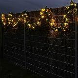 Weihnachtsgirlande mit integrierter LED Lichterkette 10 Meter beleuchtete Tannengirlande für innen und außen verwendbar