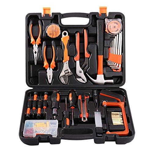 100-teiliger Universale Werkzeugkoffer, Premium Werkzeugset für den Heimwerker, Werkzeugsortiment - Werkzeug-Set - Werkzeug für den t?glichen Gebrauch / Werkzeugkoffer befüllt