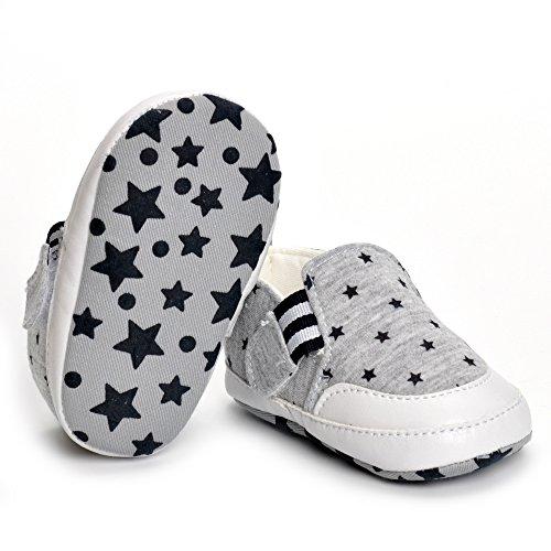 ESTAMICO , {Chaussures premiers pas pour bébé (garçon) Gris