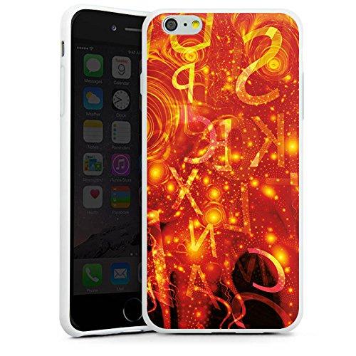 Apple iPhone X Silikon Hülle Case Schutzhülle Muster Abstarkt Glut Silikon Case weiß
