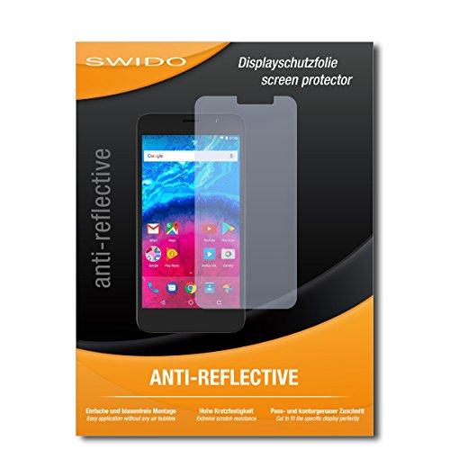 SWIDO Schutzfolie für Archos Core 55 [2 Stück] Anti-Reflex MATT Entspiegelnd, Hoher Härtegrad, Schutz vor Kratzer/Bildschirmschutz, Bildschirmschutzfolie, Panzerglas-Folie