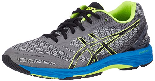 ASICS Gel-DS Trainer 22, Sneakers Uomo, Grigio (Carbon/Black/Safety Yellow), 46 EU