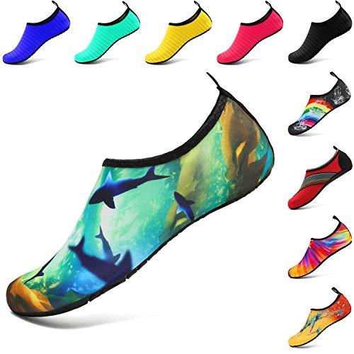 c3d0d42b5 VIFUUR Water Sports Shoes Barefoot Quick-Dry Aqua Yoga Socks Slip-on for Men