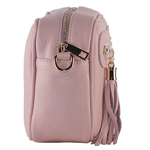 BORDERLINE - 100% Made in Italy - Echtes Leder Clutch - SUSI Pink