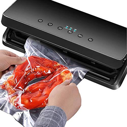 LFPYON Vakuumierer, Automatische Lebensmittel Vakuum Kunststoffverpackungen Sealer Maschine Dry & Moist Food ModesSmall Haushalt Commercial Vacuum Machine