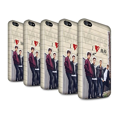 Offiziell The Vamps Hülle / Matte Snap-On Case für Apple iPhone 4/4S / Pack 5pcs Muster / The Vamps Geheimes Tagebuch Kollektion Pack 5pcs