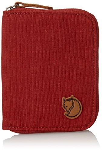 Fjallraven Mens Zip Wallet Green deep red