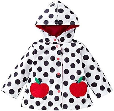 Chaqueta cortavientos, para lluvia, abrigo con capucha, para verano, primavera, chubasquero, para niñas de edades de 1a 6Años, diversos colores