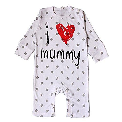 DINGANG® I Love My Daddy Mummy Baby Junge Mädchen Unisex Lange Ärmel Bodysuit