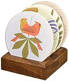 Charley Harper Love Birds Absorbent Stone Coaster Set by Charley Harper