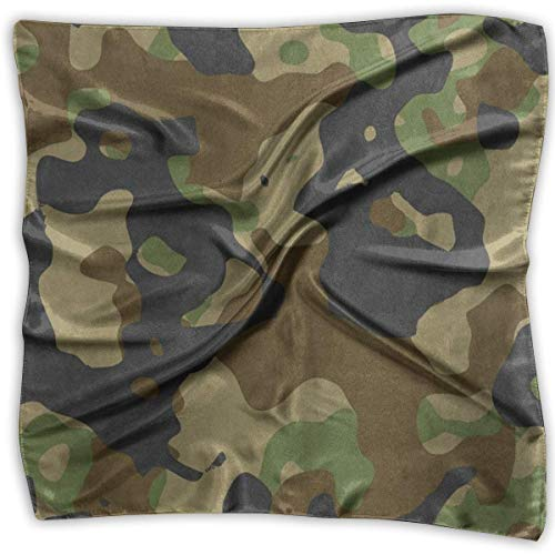 Hipiyoled Square Scarf Green And Black Camouflage Military Stylish Neck Head Unisex Head & Neck Tie For Woman
