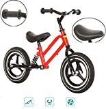 ZQZN Balance Bike for Kids - Laufrad kein Pedal große Kinder Fahren mit dem Auto - Balance to Pedal Bike Kit, Rahmen aus Carbonstahl für 1-6 jährige Kinder,Red