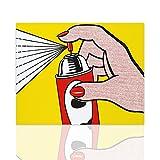 Fototapete Dekoration Moderne Möbel Reproduktionsspray Roy Lichtenstein - Leinwand Pop-Art bunte Malerei fertig an den Seiten bereit zum Aufhängen