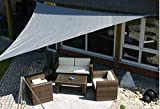 KL-Toys Sonnensegel / Dreieck 3,6 x 3,6 x 3,6 m - grau / Material: HDPE-Gewebe, UV-stabiles Gewebe 185 g/m² / umlaufendes Gurtband / Farbe: grau