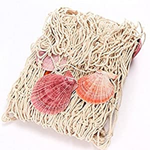 Dosige Fischernetz Deko Maritime Fischerei Dekorative Netz mit Muscheln für Hintergrund Schlafzimmer Dekoration Netze 150 x 200 cm Beige