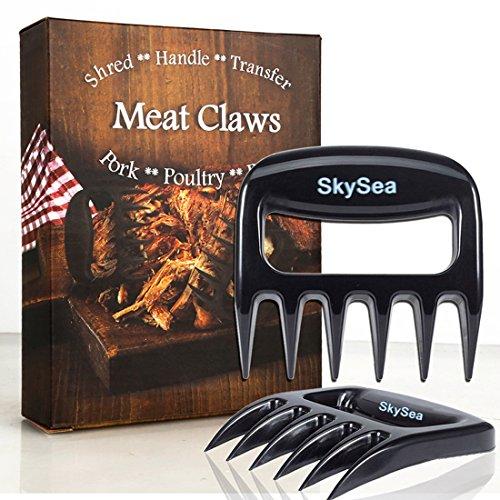 SkySea Gestore Aggiornato Solido a Base di Carne (2 Pezzi) Sopportare Artigli Zampe di Carne per la Manipolazione, il Taglio, la Scultura, la Triturazione Della Carne, Strumenti Utili per Barbecue (Nero (Solido))