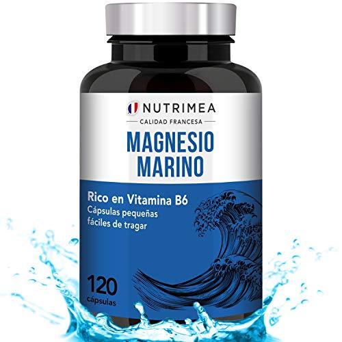 Magnesio y Vitamina B6 Cansancio Fatiga Alivio de Calambres Magnesio Marino Potente...