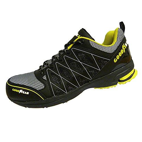 GoodyearGYSHU1502 - Scarpe da tennis di sicurezza uomo, nero (black/yellow), 44