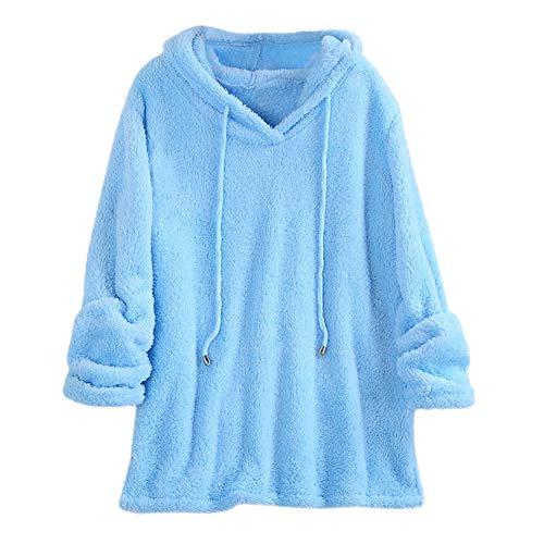 ABsoar Sweatshirt Damen Winter Pullover Frauen Jacke Plüsch mit Kapuze Normallack Lange Hülsen Sweatshirt Oberseiten Bluse