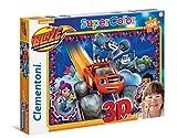 Clementoni 20608 - Puzzle 3D Blaze And The Monster Ma, 104 Pezzi