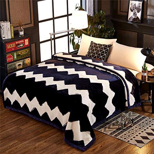 Fleece Wurfdecken Super Soft Fluffy Warm Solid Bed wirft für Sofa Luxus Mikrofaser Decke Welligkeit König Größe 200 x 230 cm ()