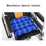 HRRH Medizinische Rollstuhl Luftpolster Aufblasbare Sitz Matratze Anti Dekubitus Verhindern Decubitus Ideal für Längeres Sitzen mit Pumpe