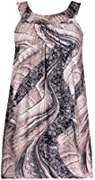 Womens Plus Size Animal Floral Print Ladies Sleeveless Lined Puff Long Bubble Vest Top
