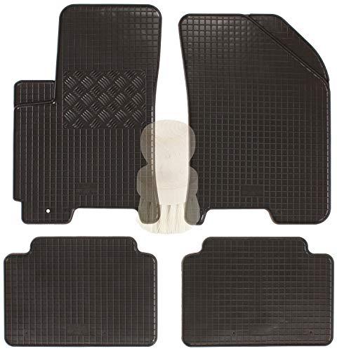 ZentimeX Z903303 Gummifußmatten fahrzeugspezifisch mit Reinigungsbürste