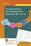 Vorlagen Geburtstagskalender, Regelbaum, Abc u. Co: 148 kombinierbare Motivvorlagen für das Klassenzimmer